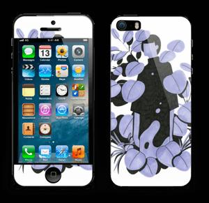 Blålilla blad Skin IPhone 5s