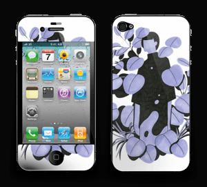 Blålilla blad Skin IPhone 4/4s