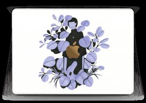 """Purple blue leaves Skin MacBook 12"""""""