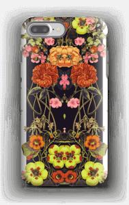 Orange floral crossing case IPhone 7 Plus tough