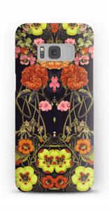 Orange blomster cover Galaxy S8