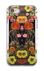 Orange floral crossing case IPhone 8 tough