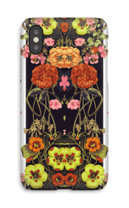Orange floral crossings case IPhone X