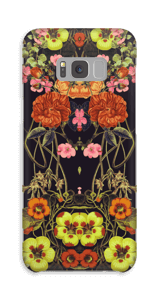 Orange blomster cover Galaxy S8 Plus