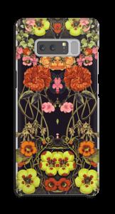 Orange floral crossing case Galaxy Note8
