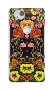 Orange blomster cover Pixel 2