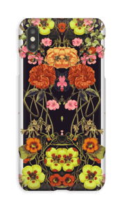 Orange blomster cover IPhone XS Max