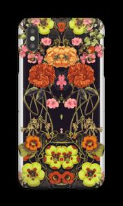 Organge blomster deksel IPhone XS Max
