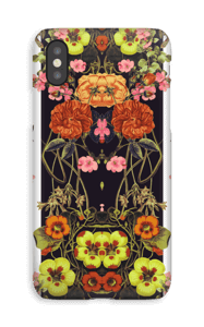 Orange blomster cover IPhone XS