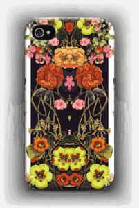 Oranssit kukat kuoret IPhone 4/4s