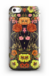 Orange blomster cover IPhone 5c