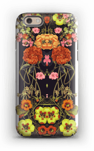 Orange floral crossing case IPhone 6 tough