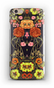 Orange blomster cover IPhone 6 Plus