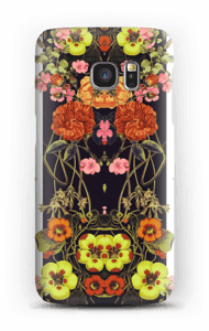 Orange floral crossing case Galaxy S7