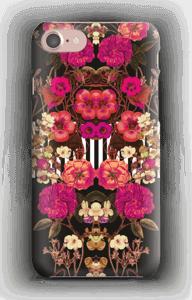 Rosa blomsterkors deksel IPhone 7