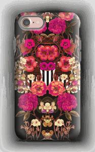 Roze bloemencorso hoesje IPhone 7 tough