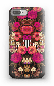 Roze bloemencorso hoesje IPhone 7 Plus tough