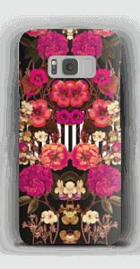Roze bloemencorso hoesje Galaxy S8