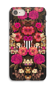 Pink floral crossing case IPhone 8