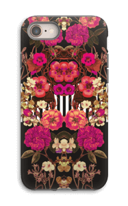 Pink floral crossing case IPhone 8 tough