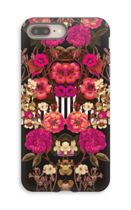 Pink floral crossing case IPhone 8 Plus tough