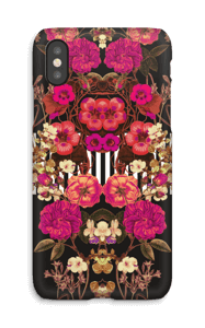 Floral crossing in pink case IPhone X