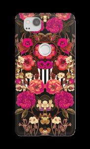 Roze bloemencorso hoesje Pixel 2