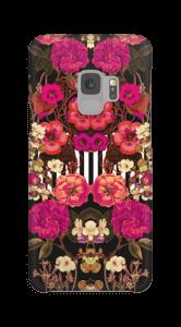 Rosa blomsterkors deksel Galaxy S9