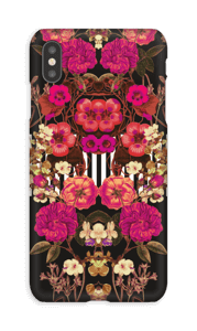 Lyserødt blomsterkryds cover IPhone XS Max