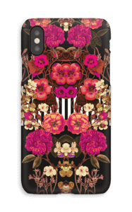 Floral crossing in pink case IPhone XS
