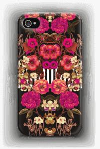 Roosat kukkaset kuoret IPhone 4/4s