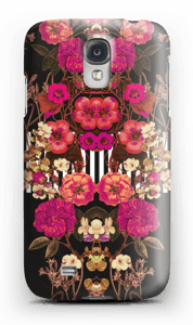 Rosa blomsterkors deksel Galaxy S4