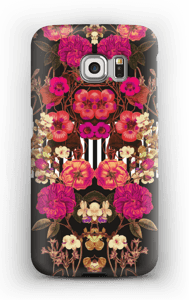 Lyserødt blomsterkryds cover Galaxy S6 Edge
