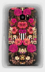 Roze bloemencorso hoesje Galaxy S7 Edge