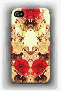 Symmetriset kukat kuoret IPhone 4/4s