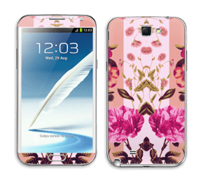 Rosa blomster Skin Galaxy Note 2