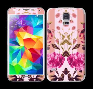 Lyserøde blomster Skin Galaxy S5