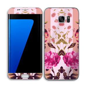 Lyserøde blomster Skin Galaxy S7 Edge