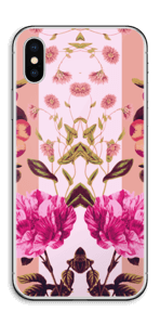 Rosa blomster Skin IPhone X