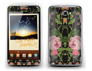 The floral tunes Skin Galaxy Note