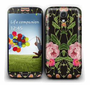 The floral tunes Skin Galaxy S4