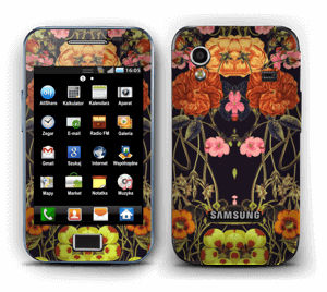 Orange floral crossing Skin Galaxy Ace
