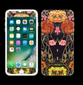 Orange flora Skin IPhone 6 Plus