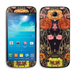 Orange flora Skin Galaxy S4 Mini