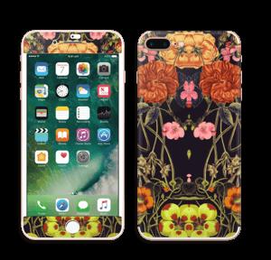 Orange blomster Skin IPhone 7 Plus