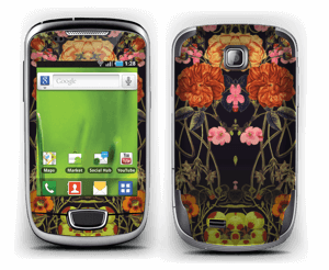 Orange flora Skin Galaxy Mini