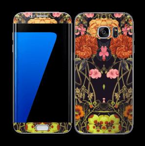 Oranje flora Skin Galaxy S7 Edge