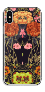 Orange floral crossing Skin IPhone X