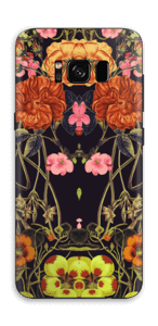 Orange Flora Skin Galaxy S8