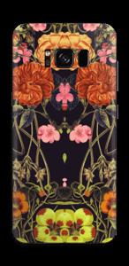 Orange floral crossing Skin Galaxy S8
